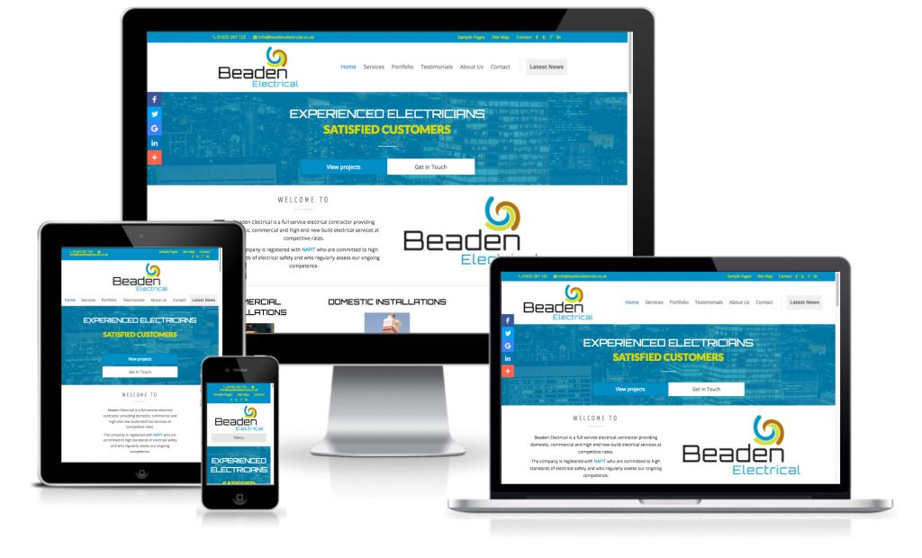 Beaden Electrical Website Design