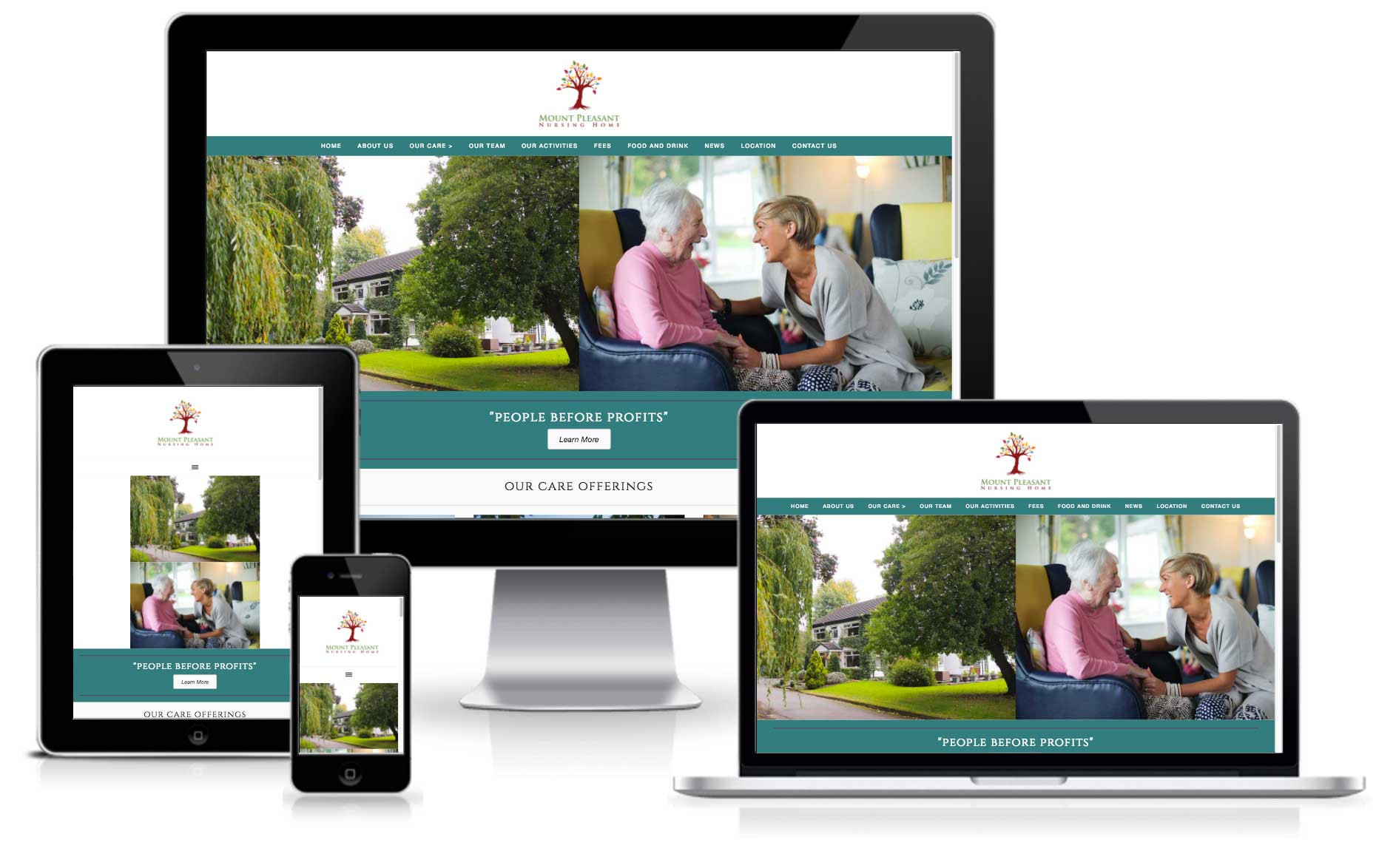 Mount Pleasant Nursing Home Website Design