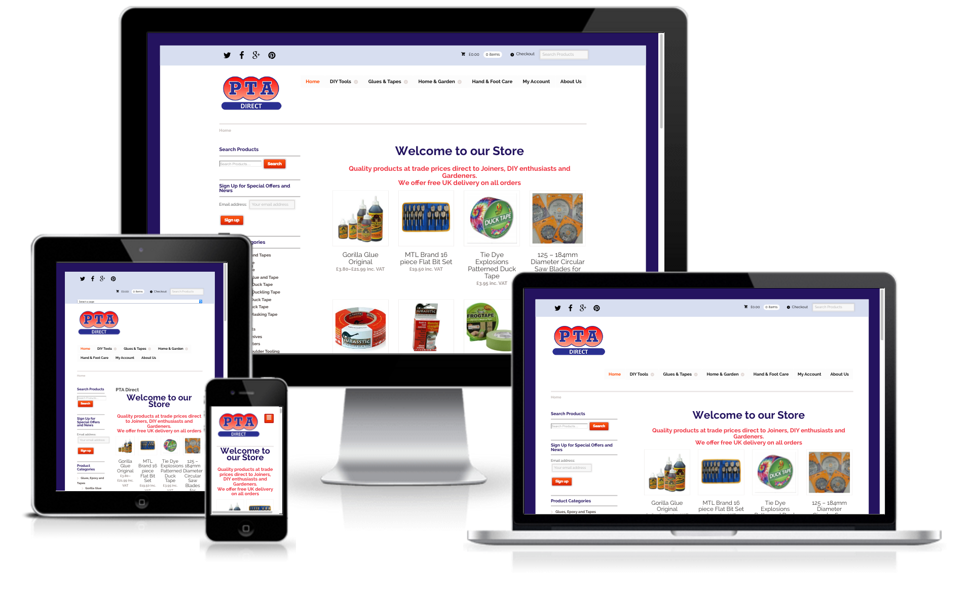 PTA Direct E-Commerce Website Design