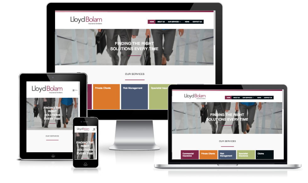 Website for Lloyd Bolam Insurance Brokers