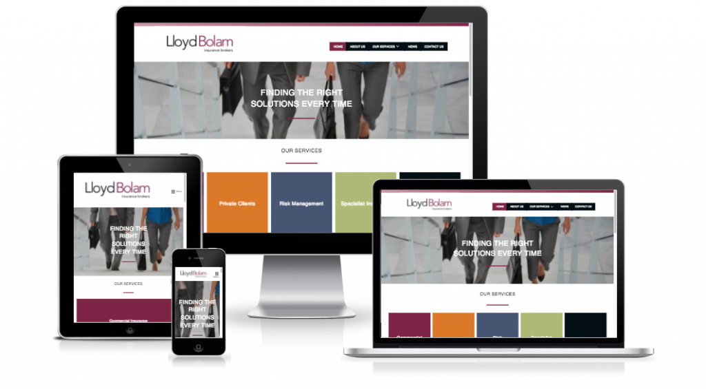 Lloyd Bolam Website - Insurance Services